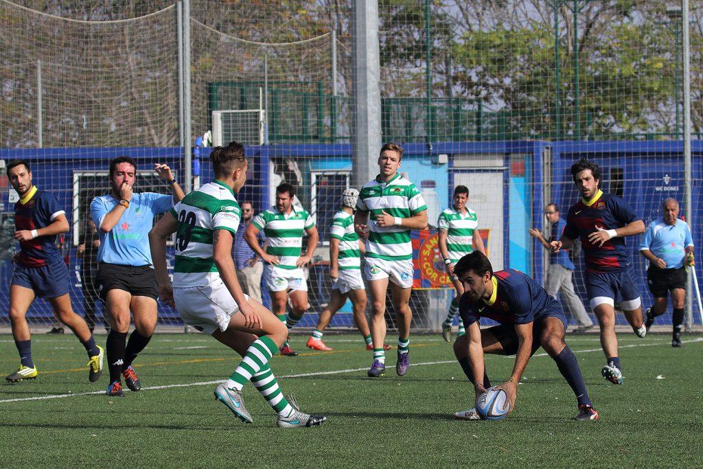 Pol Pla en el partit davant del Senor Independiente Rugby - Imatges Edu Rois