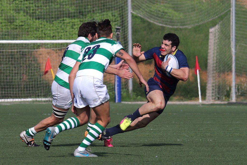 Joan Losada en el partit davant del Senor Independiente Rugby - Imatges Edu Rois